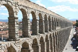 The famed aqueduct built by the Romans in Segovia, Terence P - October 2010