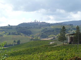 View towards San Gimignano , Colin A - October 2014