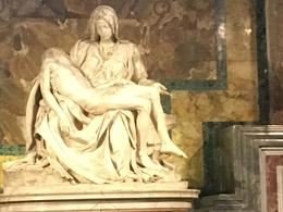The Pieta by Michelangelo in St. Peter's Basilica in Vatican City , TM - October 2016