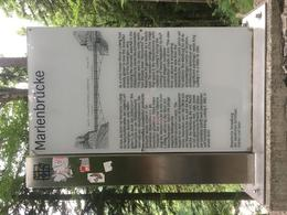 Sign about Mary's bridge. , Dee P - July 2017