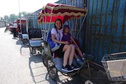 In the rickshaw, ready to begin the tour. , Maya V - July 2017