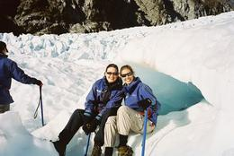 Me and my getting ready to hike around the glacier - July 2008
