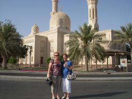 A picture of my mum and me at the Jumeirah Mosque during the city tour - August 2011