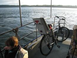 Taking the ferry over, with our bikes, Skootre - October 2010