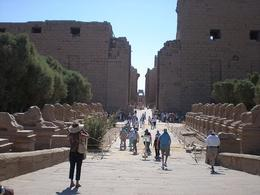 Entrance to Karnak Temple along the Avenue of Sphinx - May 2008