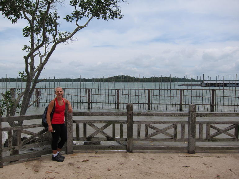 Mamman (?) Beach looking over to Malaysia - Singapore