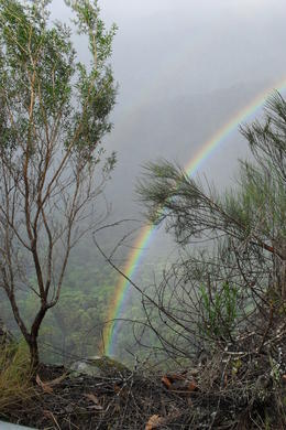 Above the valley -- ofetn filled with mist and fantastic rainbows , Lindsay H - March 2011