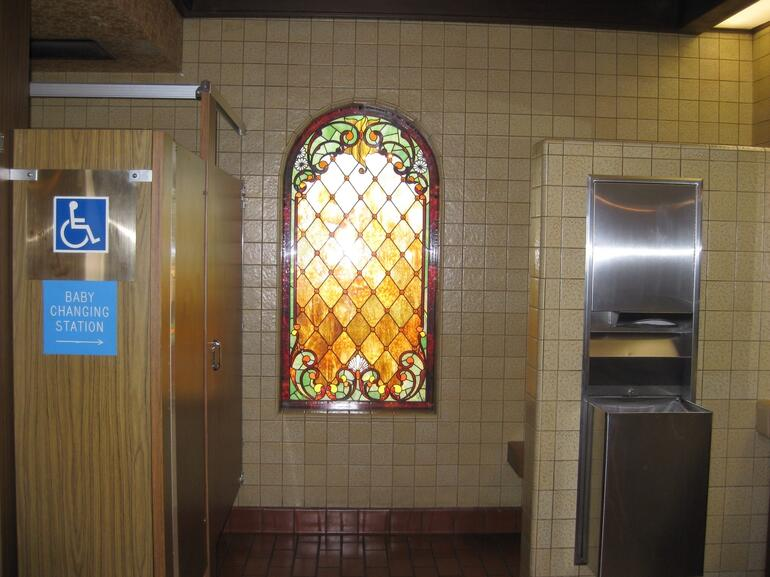 Stained Glass windows in the bathroom - San Francisco