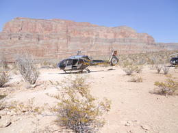 Danie and Yvonne Nel having a whale of a time on the helicopter trip to the Grand Canyon , DMW N - July 2014