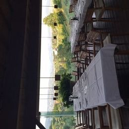 table we sat at and views , Barry W - July 2015