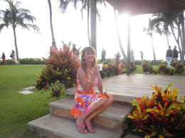 Lily before sunset at Paradise Cove Luau. , HECTOR S - May 2013