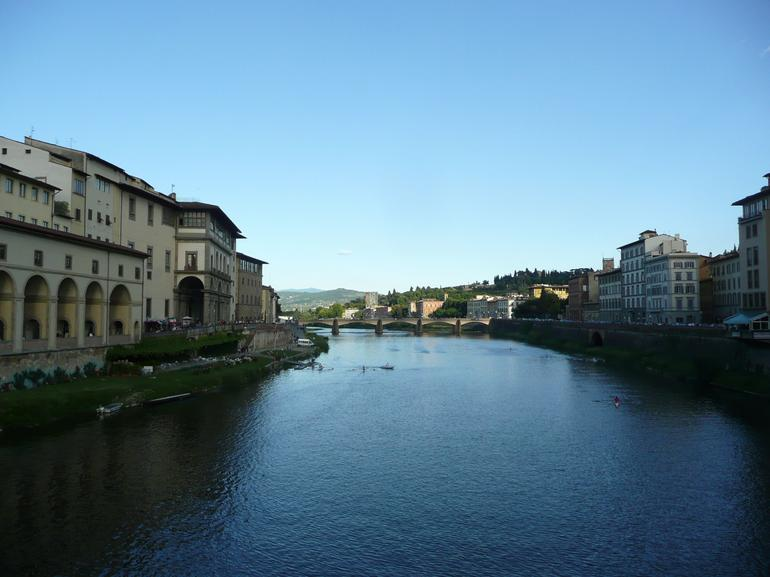 Vasari's Corridor and Arno River - Florence