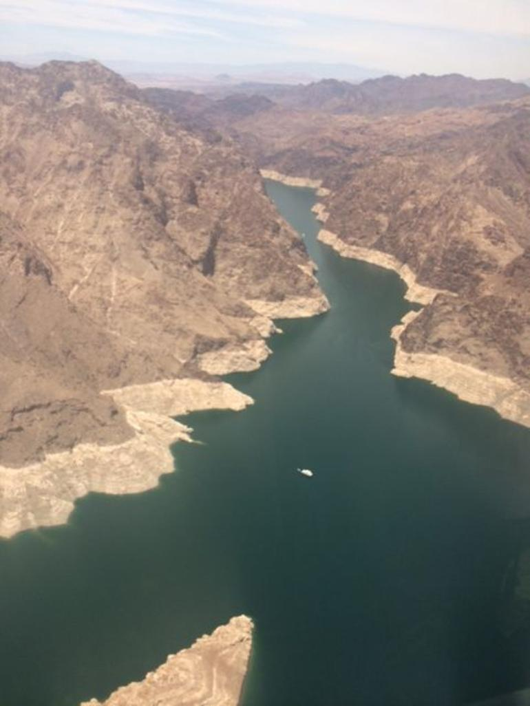 View from flight - Las Vegas