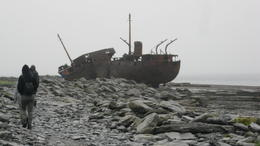 The Plassey wrecked farther out and later thrown on shore by another storm. , Roger G - October 2017