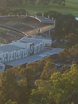 Flying over Carlton Football club home ground Ikon Park , Mark T - December 2017