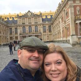 My husband and I in front of the Palace of Versailles on 12/23/17 , Kristin M - December 2017