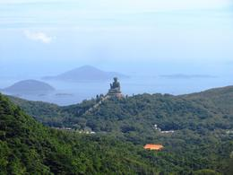 View of the Big Buddha and the south China sea from the Ngong Ping 360 cablecar - what a view! , BethanieKay - July 2014