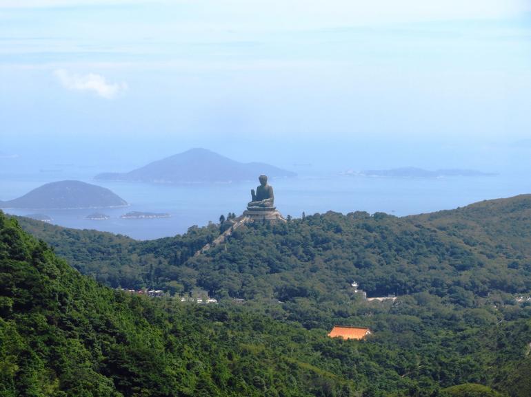Big Buddha from the cablecar - Hong Kong