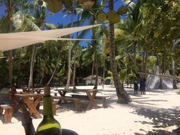 Eating area at Saona Island, Katiemo - April 2016