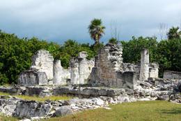 Ancient Ruina El Rey or Zona Arqueologica El Rey in Cancun Mexico - June 2011