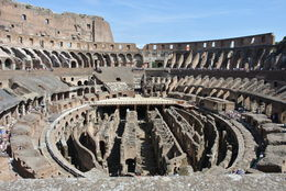 We stopped at this amazing vantage point to take a photograph of the interior of the colosseum. , Gina M - August 2016