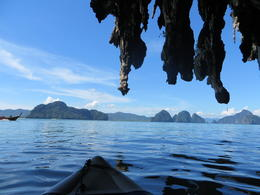 At one point your guide takes you around one of the islands to see the amazing rock formations. , Lauren - December 2013