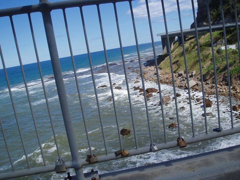 Locks on Sea Cliff Bridge -