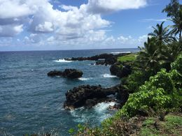 The beautiful unspoiled Maui coast on the road to Hana , lawagner - September 2015
