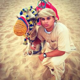 This is me, Ali Etman, getting in touch with my inner arab in the deserts of Dubai. , Ali E - October 2014
