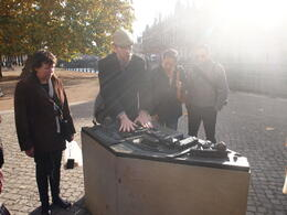 Our guide explaining the layout of Museum Island, Rachel - November 2013