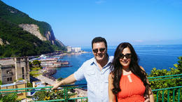 Photo taken of my wife and I on Amalfi coast by our tour guide and quot;Bruno and quot;.. , Richard R - August 2014