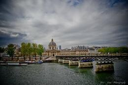 Pont des Art Bridge. From right side across the bridge is Musee Louvre. :) , haruko - May 2012