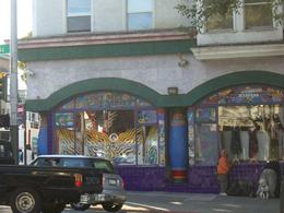 "More modern hippie gear: ""Positively Haight Street"" shop, Haight-Ashbury, SF, skigirlsf - December 2011"