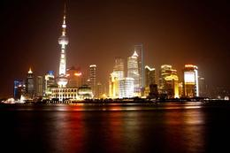 Pudong all lit up - July 2014