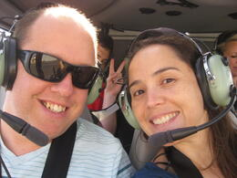 Us in the helicopter, Cutie Repolinos - April 2013