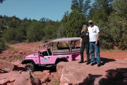 Gary and Carol with the infamous Pink Jeep , Gary T - October 2011