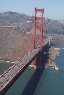 The Golden Gate Bridge, taken from the helicopter as we flew over, Sureeta S - October 2009