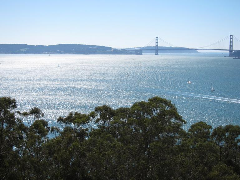 View from Angel Island of the Golden Gate Bridge -