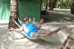 Relaxing on Saona Island. , Bart O - December 2011