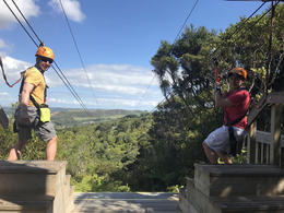Correy Honza zip-lining - Feb 2017 , correyhonza - March 2017