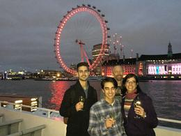 My family on our last night in London enjoying the Thames River Cruise. , Julie W - March 2017