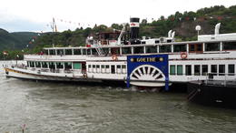 The later paddle steamer from Boppard , Roy B - July 2017