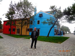 Even my camera-shy husband was willing to pose for pictures on Burano! , Darren R - January 2018