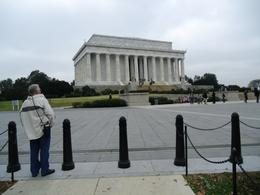 My dad admiring the Lincoln Memorial., Cheri B - November 2010