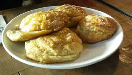 Amazing biscuits with honey at 15 Romolo, Emily G - June 2015