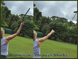 Learning to throw a boomerang , Mike - January 2016