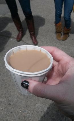 A tasting of chai tea at the Bovine Bakery, Emily G - April 2015