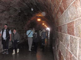 Meticulously crafted tunnel at the hands of prison laborers. , Savvy Sightseer - August 2014