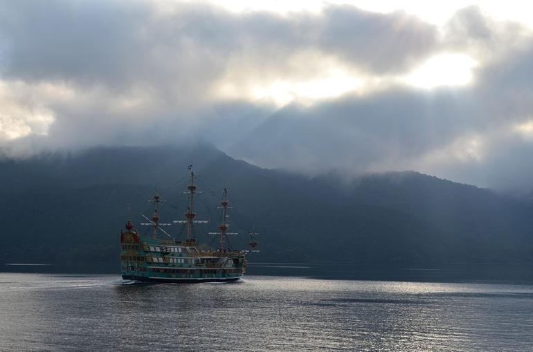 Ethereal ship on Lake Ashi - Tokyo
