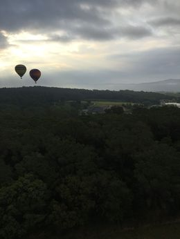 The view of two neighbouring balloons whilst in the air , Igmar U - May 2016